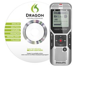 Philips 1500 2GB Digital Voice Tracer with Dragon Naturally Speaking Software