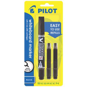 Pilot V Board Whiteboard Markers With Refills Black