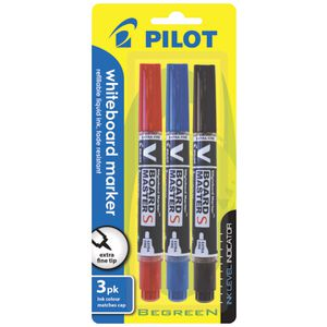 Pilot V Board Whiteboard Markers Assorted 3 Pack