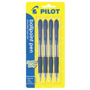 Pilot BPGP 10-R Retractable Ballpoint Pen 0.7mm Blue 4 Pack