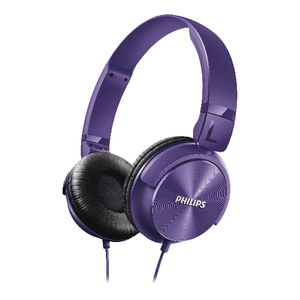 Philips On Ear Foldable Headphones Purple