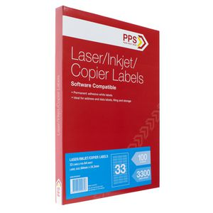 PPS Mailing Labels 100 Sheets 33 Per Page