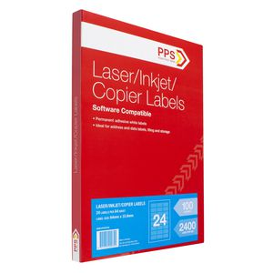 PPS Mailing Labels 100 Sheets 24 Per Page