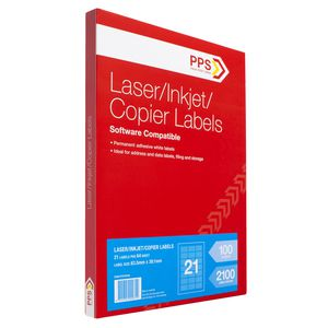 PPS Mailing Labels 100 Sheets 21 Per Page