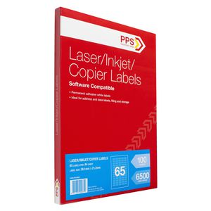 PPS Mailing Labels 100 Sheets 65 Per Page