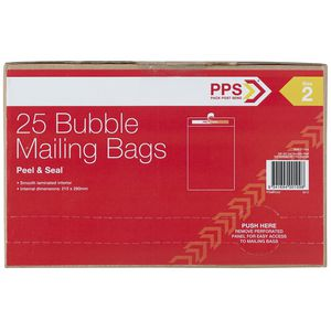 PPS Size 2 Bubble Mailing Bags 25 Pack