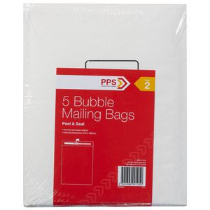 PPS Size 2 Bubble Mailing Bags 5 Pack