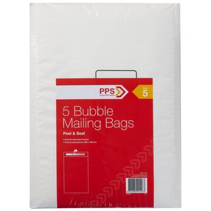 PPS Size 5 Bubble Mailing Bags 5 Pack