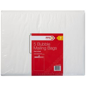 PPS Size 7 Bubble Mailing Bags 5 Pack