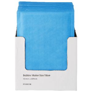 PPS Bubble Lined Size 1 Mailing Bag 150 x 230mm Blue