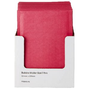 PPS Bubble Lined Size 1 Mailing Bag 150 x 230mm Pink