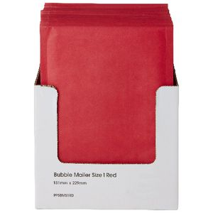 PPS Bubble Lined Size 1 Mailing Bag 150 x 230mm Red