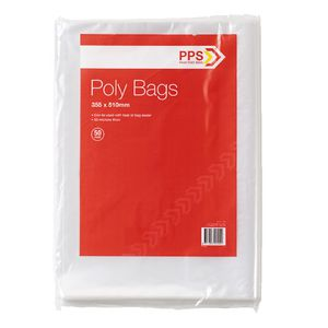 PPS Poly Bags 350 x 510mm 50 Pack