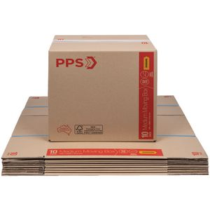 PPS Move Carton Medium 406 x 298 x 431mm 10 Pack