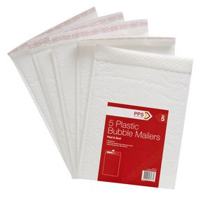 PPS 266 x 381mm Plastic Bubble Mailer Size 5 5 Pack