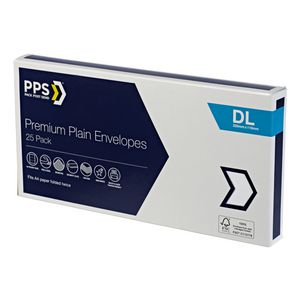 PPS Premium DL Envelopes 25 Pack
