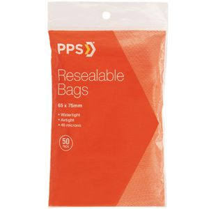 PPS 65 x 75mm Resealable Bags 50 Pack