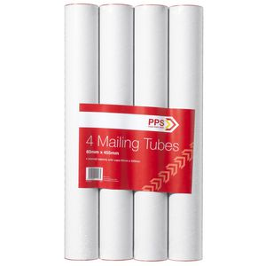 Pack Post Send Mailing Tubes 60 x 420mm 4 Pack