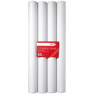 Pack Post Send Mailing Tubes 90 x 850mm 4 Pack