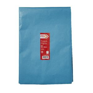 PPS Tissue Paper 500 x 750mm 100 Pack Blue
