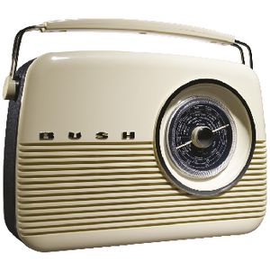 BUSH DAB+ Retro Style Digital Radio with AM/FM/LW White