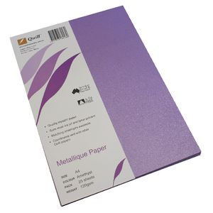 Quill Metallique Paper 120gsm A4 Amethyst 25 Sheets