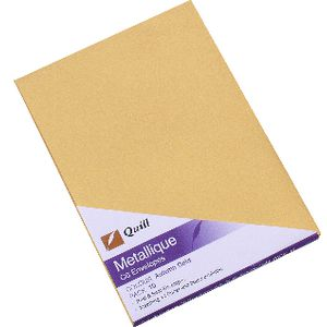 Quill Metallique Envelope C6 Autumn Gold 10 Pack