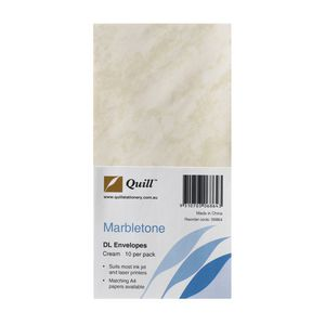 Quill Marbletone Envelopes Cream 10 Pack