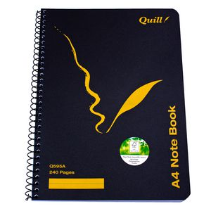 Quill A4 Side Opening Notebook