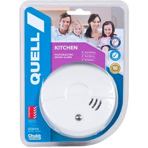 Smoke Alarm Photoelectric Quell Q301 Hush/Test