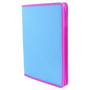 Document File A4 Zipper Box Aqua and Pink