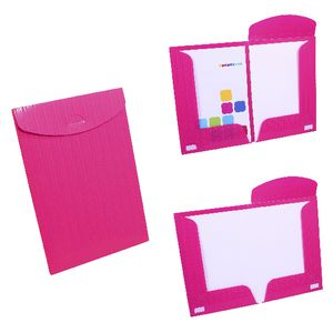 Document Box File Fold Out A4 and A3 Pink
