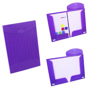 Document Box File Fold Out A4 and A3 Violet