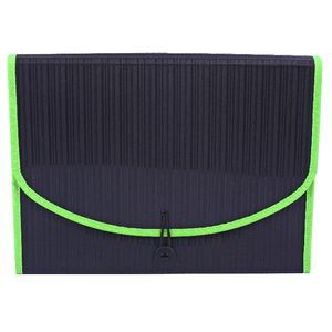 Expanding File A4 13 Pocket Black and Lime
