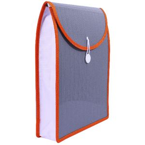 Top Load Attache File A4 Charcoal and Orange
