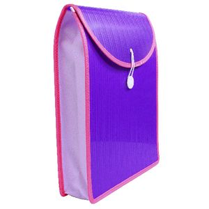 Top Load Attache File A4 Violet and Pink