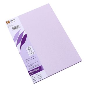 Quill Metallique Board 285gsm A4 Lavender 25 Pack