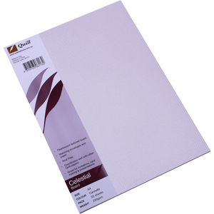 Quill A4 Metallique Board Cannette Silver 25 Pack
