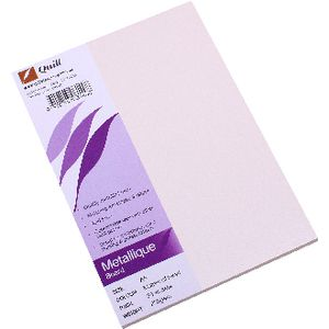 Quill Metallique Board 285gsm A5 Mother of Pearl 25 Pack