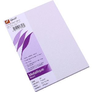Quill Metallique Board 285gsm A5 Peridot 25 Pack