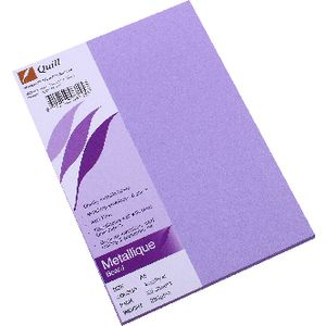 Quill Metallique Board 285gsm A5 Amethyst 25 Pack