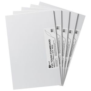 Quill PVC Foam Board 8mm 500 x 770mm White 5 Pack