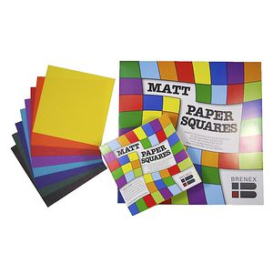 Brenex Paper Squares Matte 254mm Assorted Colours 360 Pack
