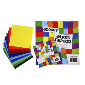 Brenex Paper Squares Gloss 127mm Assorted Colours 100 Pack