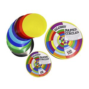 Brenex Paper Circles Gloss 120mm Assorted Colours 100 Pack