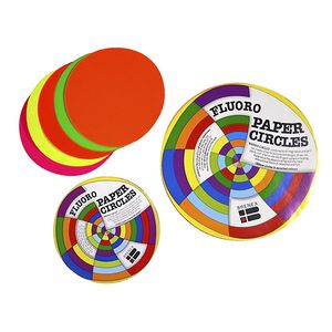 Brenex Paper Circles Gloss 120mm Fluoro Colours 120 Pack