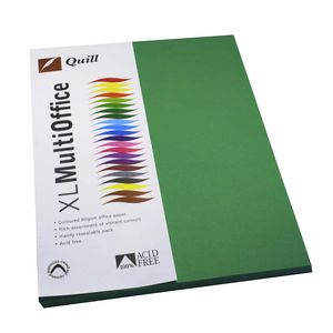 Quill Coloured Paper 80gsm A4 Emerald 100 Pack