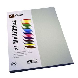 Quill Coloured Paper 80gsm A4 Grey 100 Pack