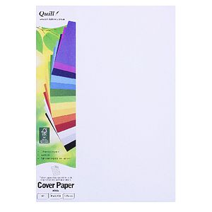 Quill 125gsm A4 XL Cover Paper White 250 Pack