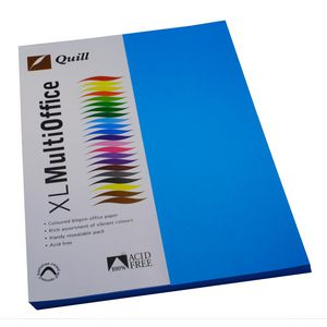 Quill Coloured Paper 80gsm A4 Marine Blue 500 Sheet Ream